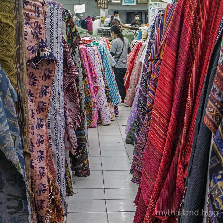 Modern day textile traders in Chiang Mai