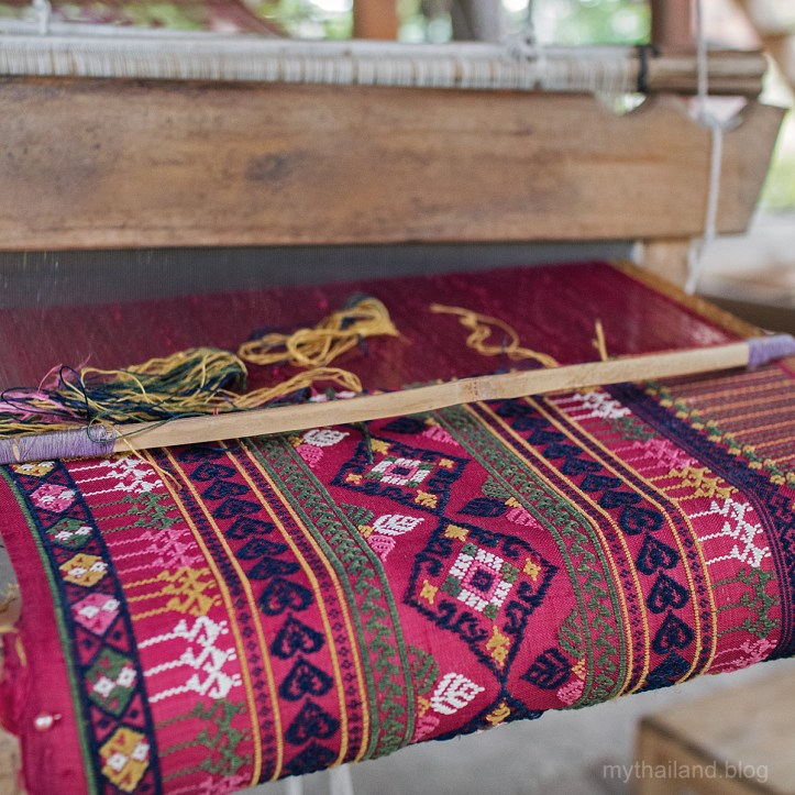 Handwoven fabric from Baan Hat Siaw in Sukhothai Province