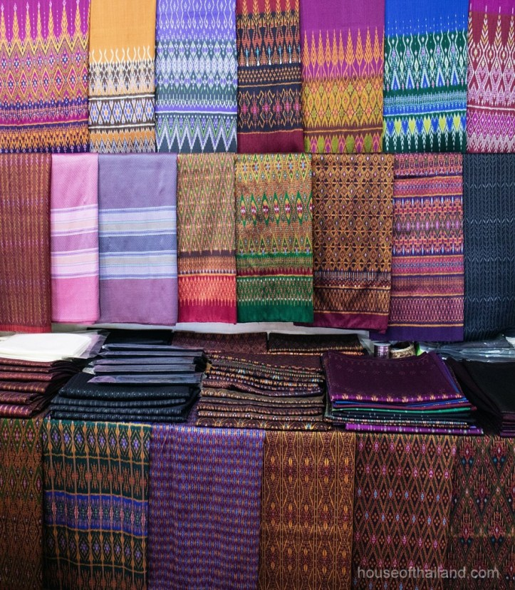 Mudmee Thai silk for sale in Surin Province