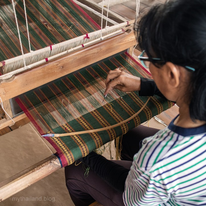Handwoven fabrics from Sukhothai Province, Thailand