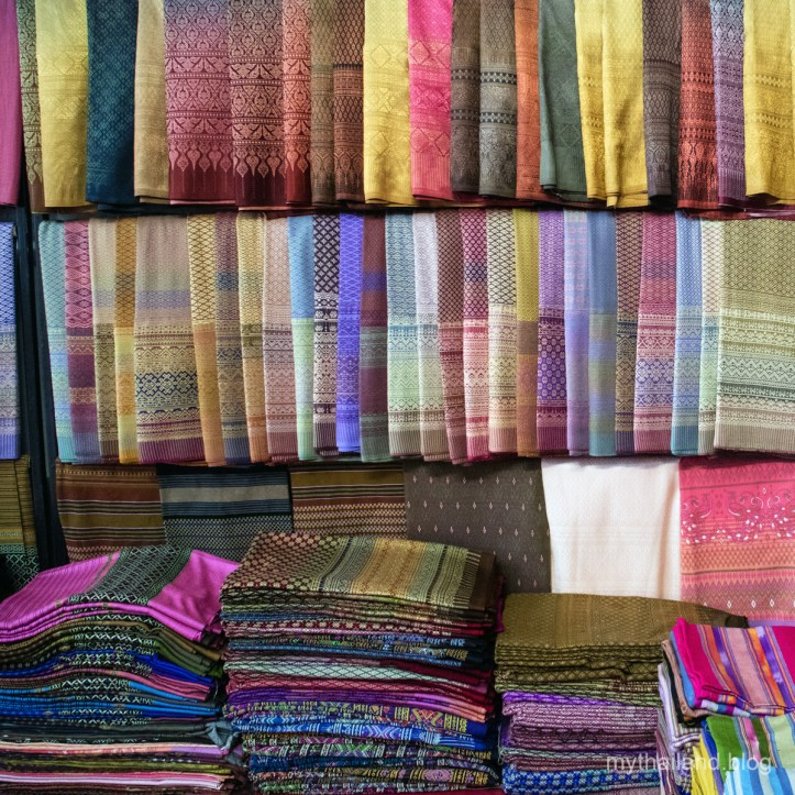 Handwoven Fabrics in Ban Hat Siaw, Thailand