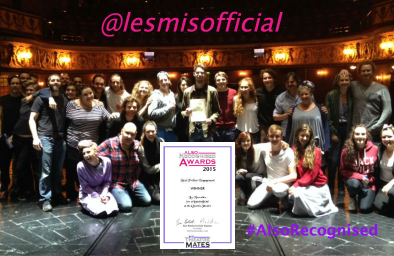 Top tweeters: The cast of Les Miserables and their Twitter manager Jon Kennedy