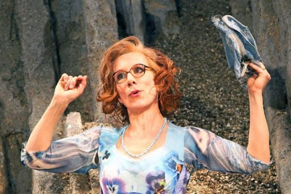 Juliet Stevenson in Happy Days at the Young Vic