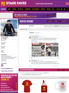 Find social media for Rufus Hound & other musical theatre performers on www.stagefaves.com