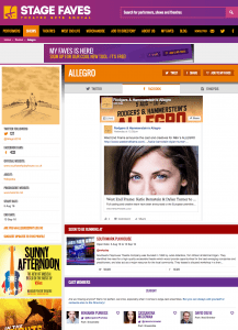 Find all social media for Allegro and its cast on www.stagefaves.com