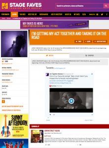 Find all social media for I'm Getting My Act Together... and its cast on www.stagefaves.com
