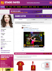 Get all social media for Joanne Clifton & other musical stars on www.stagefaves.com