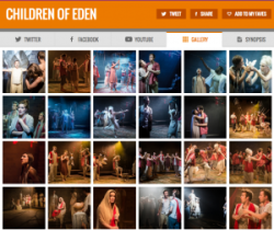 Find all social media (+ production shots)  for Children of Eden & its cast on www.stagefaves.com