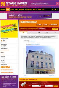 Get all social media for Groundhog Day & its cast on www.stagefaves.com