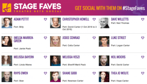 Get all social media for OUT THERE & its cast on www.stagefaves.com
