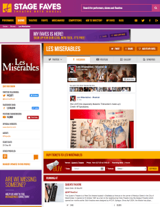 Get all social media for Les Miserables & its cast (past-present-future) on www.stagefaves.com