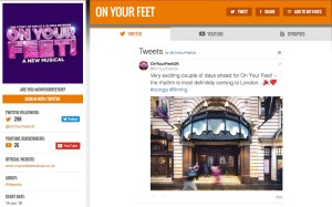 Get all social media for On Your Feet & its cast on www.stagefaves.com