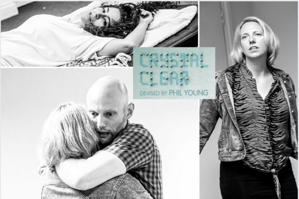 Rehearsals for Crystal Clear at London's Old Red Lion Theatre