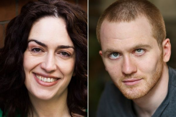 Lanna Joffrey & Samuel Brewer are the English cast of The Eyes of the Night at the Cervantes Theatre in September 2019