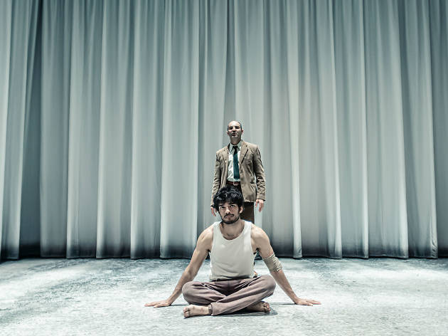 Ethan Kai & Zubin Varla in Equus at the West End's Trafalgar Studios. © The Other Richard