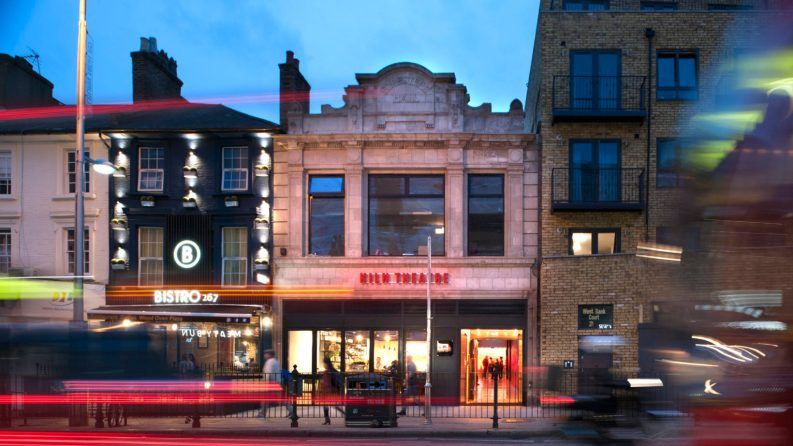 The Kiln Theatre, formerly the Tricycle, was redesigned by Charcoal Blue & relaunched in 2018