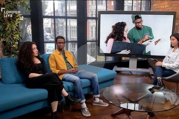 Yasmin Paige & Simon Manyonda discuss Anna Ziegler's play ACTUALLY on London Live television