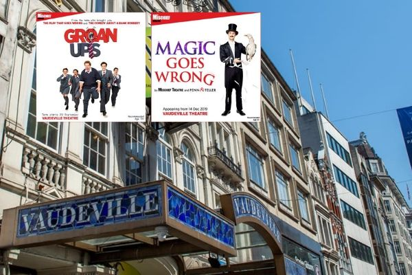 The first two productions in Mischief Theatre's 2019-20 season at London's Vaudeville Theatre: Groan Ups & Magic Goes Wrong