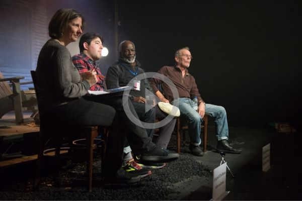 Terri Paddock chaired a post-show talk with Ages of the Moon stars Joseph Marcell and Christopher Fairbank and director Alexander Lass at The Vaults in London