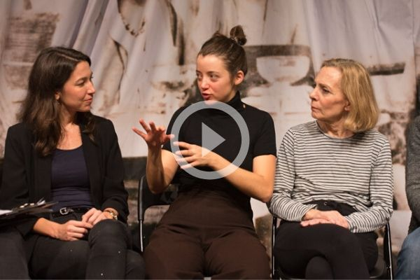 Paula Paz, Pia Laborde-Noguez & Diana Volpe at The House of The Spirits post-show talk at the Cervantes Theatre, London