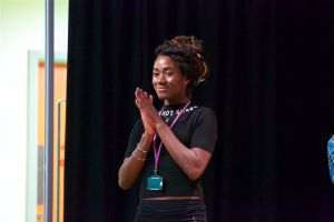 Apple writer/performer Cheryl Ndione