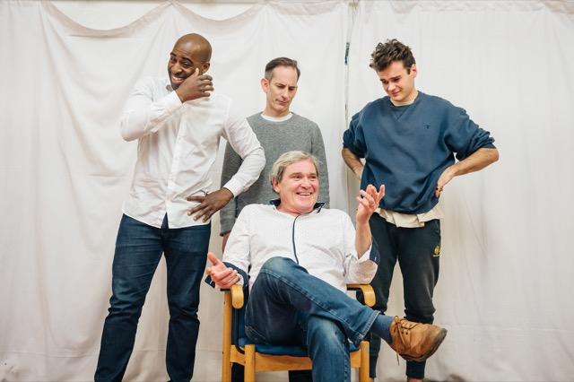 Daniel Francis with Cops co-stars James Sobol Kelly, Roger Alborough & Jack Flammiger