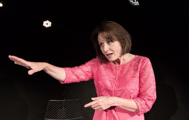 Mary Ryder as Cherie Blair in Cherie - My Struggle. © Conrad Blakemore