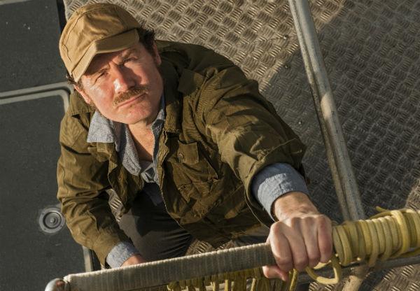 Ian Shaw as Robert Shaw in The Shark Is Broken. © Robert Driftwood