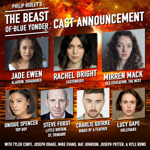 The cast of The Beast of Blue Yonder