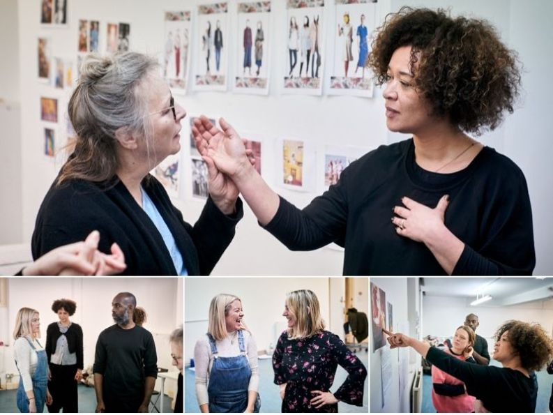Mum in the rehearsal room ahead of its premiere at London's Playground Theatre. © Alex Brenner