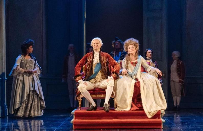 Mark Gatiss & Debra Gillett in The Madness of George III