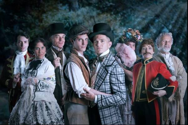 The cast of The Pleasure Garden at Above The Stag Theatre 2021