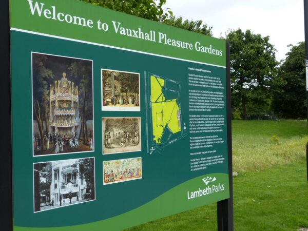 The modern-day Vauxhall Pleasure Gardens in south London