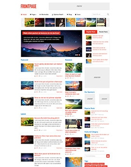 Wordpress Themes FrontPage