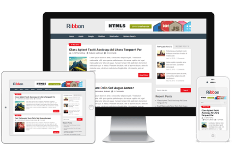 Ribbon free WordPress free themes