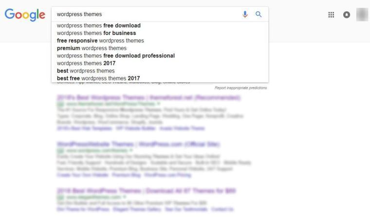 google auto suggest keywords