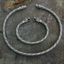 Viking Fenrir Bracelet or Fenrir Torc Neck Ring