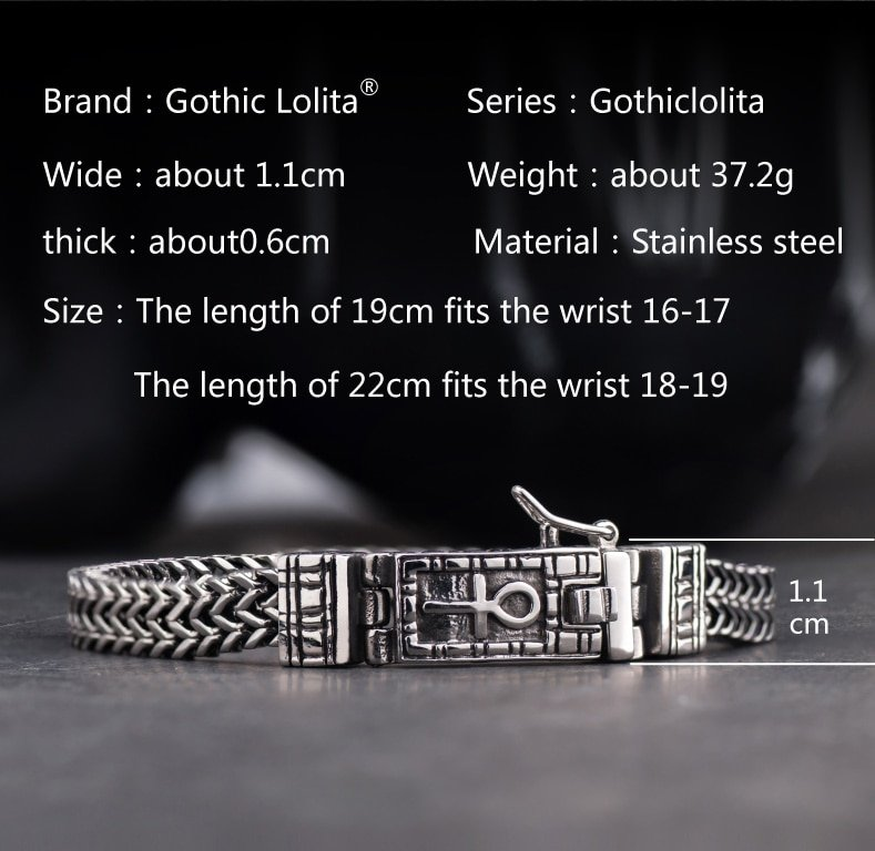 High quality  Horus bracelet for men stainless steel fashion Jewelry