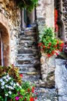 Steps inside Yvoire main gate
