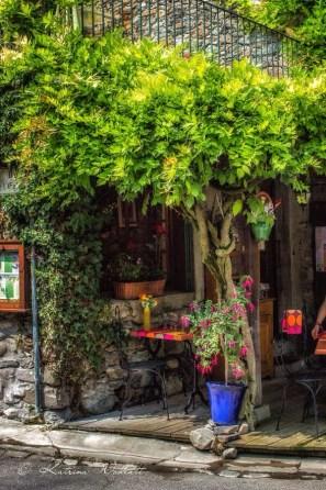 Restaurant terrace in Yvoire