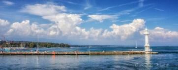 Geneva's right bank jetty