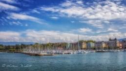 marina in Geneva's harbour