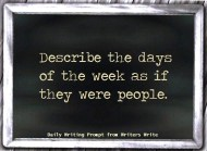 writing prompt 1 days