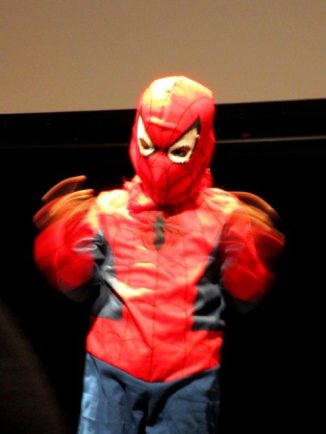 Spider Boy webbing out at BCBF