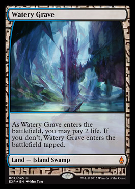 Watery Grave  Battle for Zendikar MTG Visual Spoiler
