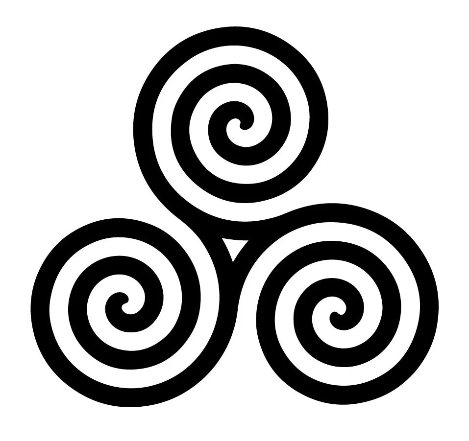 hight resolution of the origin of the symbol goes back to very early times the earliest examples of the triskelion were found in malta 4400 3600 bc on lycian coins