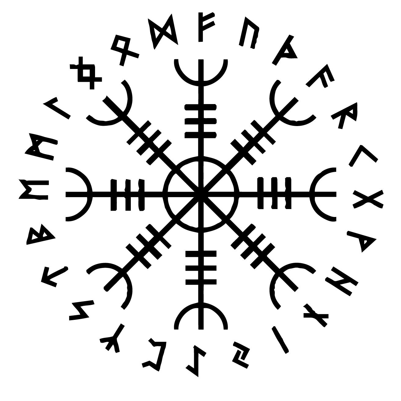 Aegishjalmr Aegishjalmur The Helm Of Awe Symbol And Its
