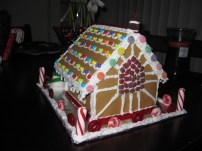 Back of Gingerbread House - stained glass window