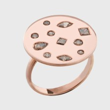 Coffee diamonds set in 18k rose gold