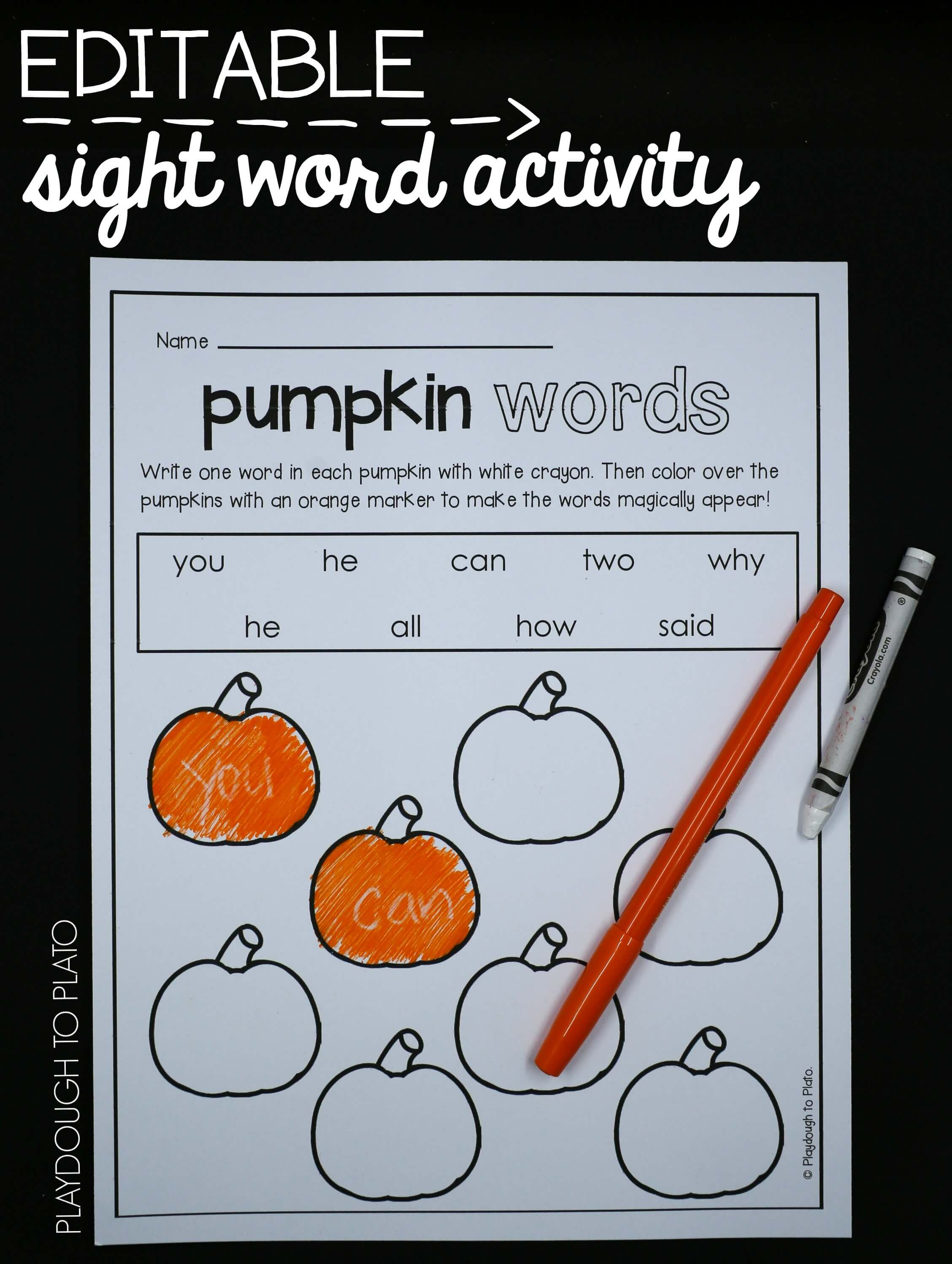 15 Must Try Printable Fall Sight Word Activities With